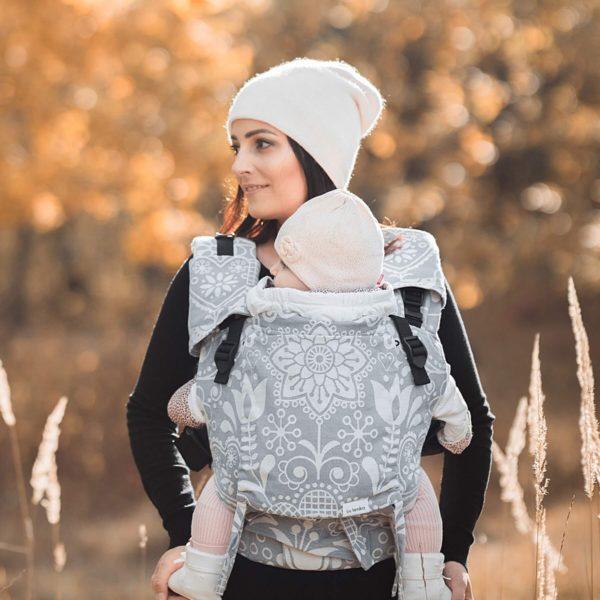 acheter-louer-porte-bébé-Belenka-4ever-Folk-Grey