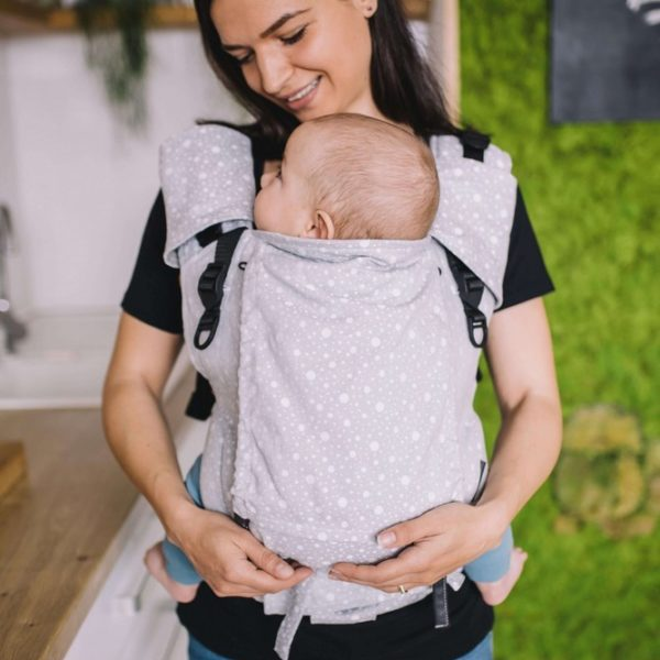 acheter-louer-porte-bébé-Belenka-4ever-Mandala-Dots-Grey